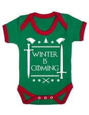Christmas Edition ' Winter Is coming ' Baby Grow - Christmas Game Of Thrones