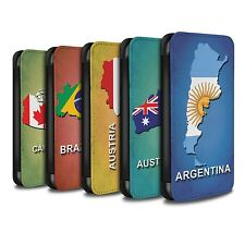 STUFF4 PU-Leder Hülle/Case/Tasche für Apple iPhone 4/4S/Flagge Land