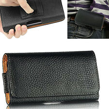 Leather Belt Clip Pouch Case Cover Holster Bag For Samsung Galaxy Phone Models