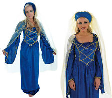 Ladies Tudor Lady Fancy Dress Costume Medieval Maiden Maid Marion Outfit UK 8-30
