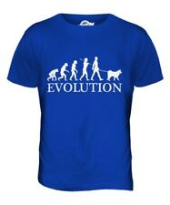 SAMOIEDO EVOLUTION OF MEN DA UOMO T-SHIRT MAGLIETTA AMANTI DEI CANI WALKER