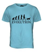 SALUKI EVOLUTION OF MEN DA UOMO T-SHIRT MAGLIETTA AMANTI DEI CANI WALKER