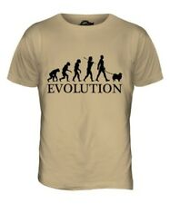 KEESHOND EVOLUTION OF MEN DA UOMO T-SHIRT MAGLIETTA AMANTI DEI CANI WALKER
