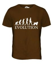 KOMONDOR EVOLUTION OF MEN DA UOMO T-SHIRT MAGLIETTA AMANTI DEI CANI WALKER