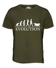 TIBETANO MASTIFF EVOLUTION OF MEN DA UOMO T-SHIRT MAGLIETTA AMANTI DEI CANI