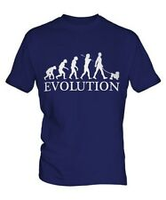 PICCOLO EVOLUTION OF MEN DA UOMO T-SHIRT MAGLIETTA AMANTI DEI CANI WALKER
