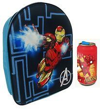 Marvel Avengers Iron Man 3D EVA Backpack | Rucksack & Plastic Can | School Set