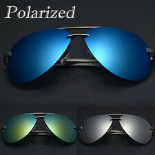 Mens Polarized Sunglasses UV400 Driving Glasses Outdoor Sports Mirrored Eyewear