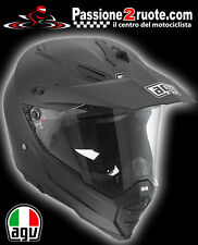 Casco integrale Agv AX8 Ax-8 dual evo nero opaco black matt cross enduro