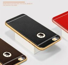 *SOFT LEATHER TPU * Protective Back cover case for * APPLE IPHONE 5 / 5s & SE *