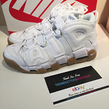 NIKE AIR MORE UPTEMPO WHITE US UK 8 8.5 9 9.5 11 12 414962-103 GUM SIZE SCOTTIE