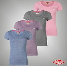 New Ladies Designer Lee Cooper Stylish Crew Top Short Sleeve T Shirt Size 8-18