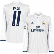 *16 / 17 - ADIDAS ; REAL MADRID HOME SHIRT LS / BALE 11 = SIZE*