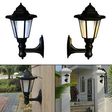 Solar Power LED Path Way Wall Landscape Mount Garden Fence Outdoor Light Lamp