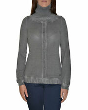 YES ZEE By ESSENZA pullover donna con finti bottoni davanti e collo alto