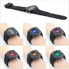 RTimes LED Aircraft Model Digital Wrist Watch for Men with color changing light