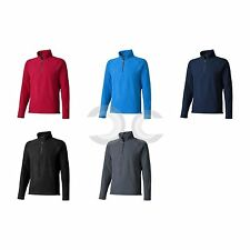 FELPA POLYFLEECE BOWLEN CON ZIP CORTA ELEVATE GLOBAL FIT UOMO DONNA MAGLIA NEW