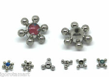 2X Replacement Tongue Bar Spinning Spinner Barbell Massage Ball Ring 1.6mm