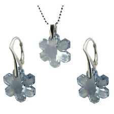 FASHIONS FOREVER® Sterling Silver Snowflake-Set, made with SWAROVSKI® Crystals