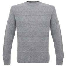 Edwin Stripes Grey Marl Lambswool Jumper - Size M - New with tags - RRP £90.00