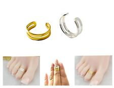 Double Band Adjustable Men/Women Silver/Gold Thumb/Toe/Finger/Knuckle Ring