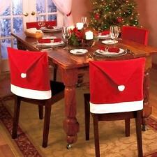 Santa Clause Red Hat Chair Back Covers Christmas Dinner Table Party Decoration A