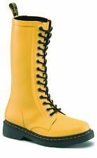 Original Doc Dr Martens 14 Loch Gummistiefel Shower Matt Yellow 14823750