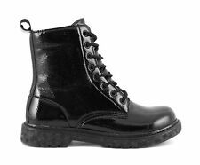CAFE' NOIR ANFIBI TIPO DR MARTENS VERNICE NERO A-I 2016-17 COD. FH913