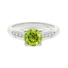Peridot  Round Shape Fashion  925 Sterling Silver Ring  For  Woman's As Gifting