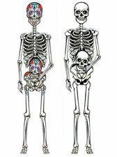 """COLOURFUL SKELETON MEXICAN HALLOWEEN DAY OF THE DEAD 60"""" CUTOUT ROOM DECORATION"""