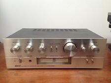 Ampli AKAI  Model AM–2350 Stereo Integrated Amplifier Silver Design Vintage