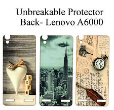 Unbreakable  Back Tempered Glass Back Case Cover Protector For Lenovo A6000