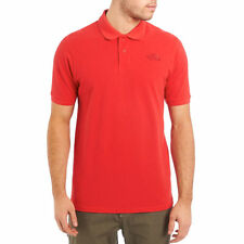 North Face Mens Polo Shirt Piquet in Red - Size S