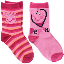 Peppa Pig Two Pairs Children Girls Pink Ankle Socks