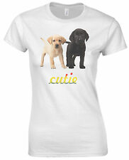 Little Puppies Cutie Cute Pet Puppy Dogs Graphic Vintage Slogan Women T Shirt