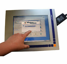 TOUCHSCREEN TFT MONITOR MIT WAND PC LAUER AIOvision f. MS DOS WINDOWS 95 98 2000