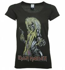 Official Women's Charcoal Iron Maiden Killers T-Shirt from Amplified
