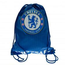 Chelsea Fc Gym Bag Foil Blue String Bag Lightweight Sports Kit Match Holdall New