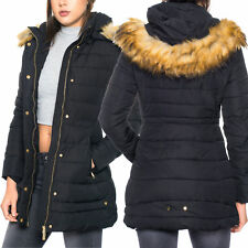 Damen Wintermantel Winterjacke Kapuzenjacke Steppmantel Steppjacke Mantel Jacke