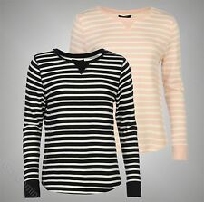 Ladies Branded Mystify Casual Stylish Long Sleeves Stripe Sweater Size S M L XL