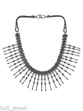 Ethnic Tribal Silver Tone Necklace Indian Traditional Women Antique Jewelry Set
