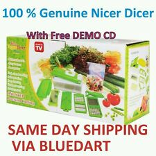 GENIUS NICER DICER PLUS MULTI CHOPPER VEGETABLE AND FRUIT CUTTER SLICER 10 PCS