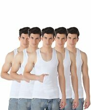 TT White Vest (Pack Of 5) For Men - 100% Cotton