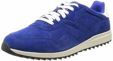 Diesel V-Staffetta S-Swifter II Blue White Mens Suede Trainers Shoes