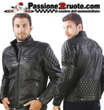Giacca pelle vintage Oj Garage Nero Black Moto retro cafe racer leather Jacket