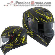 casco Agv k5 Hero Black matt amarillo moto integral helm Casco cascos