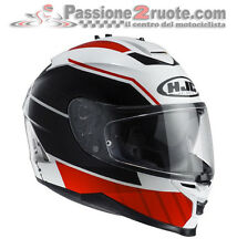 casque Hjc Is-17 Is17 Tridents blanc rouge moto integral casque casque