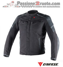 Chaqueta Dainese Horizon tejido cuero negro black moto leather jacket