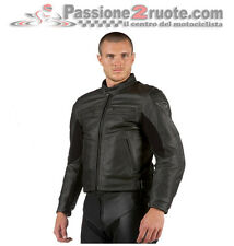 Chaqueta de cuero Dainese Stripes negro black moto leather jacket