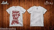 T-shirt nera bianca uomo donna scritta rap hip hop funky THESE HOES AIN'T LOYAL